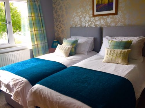 Bed & Breakfast accommodation Lochcarron with first floor twin and ensuite shower room