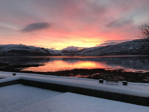 winter sunrise in Lochcarron